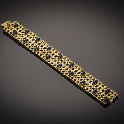 Bracelet vers 1950 lapis lazuli