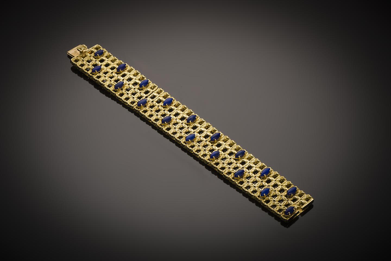 Bracelet vers 1950 lapis lazuli-1