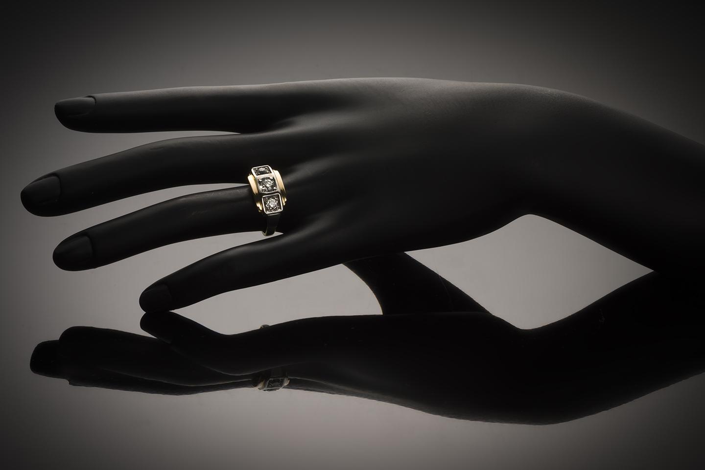 Bague « trilogie » diamants (1,20 carat) Art Déco vers 1925-2