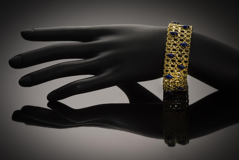 Bracelet vers 1950 lapis lazuli-2