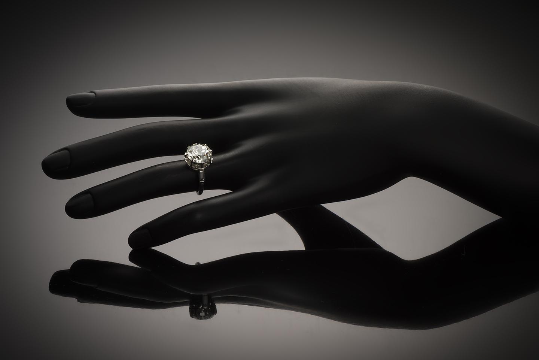 Solitaire diamant 5,37 carats (certificat LFG) Art Déco-2