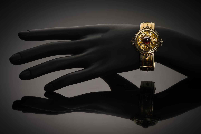 Bracelet grenat perles fines Napoléon III-2