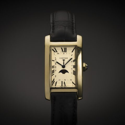 Montre Cartier Tank Américaine à complications or