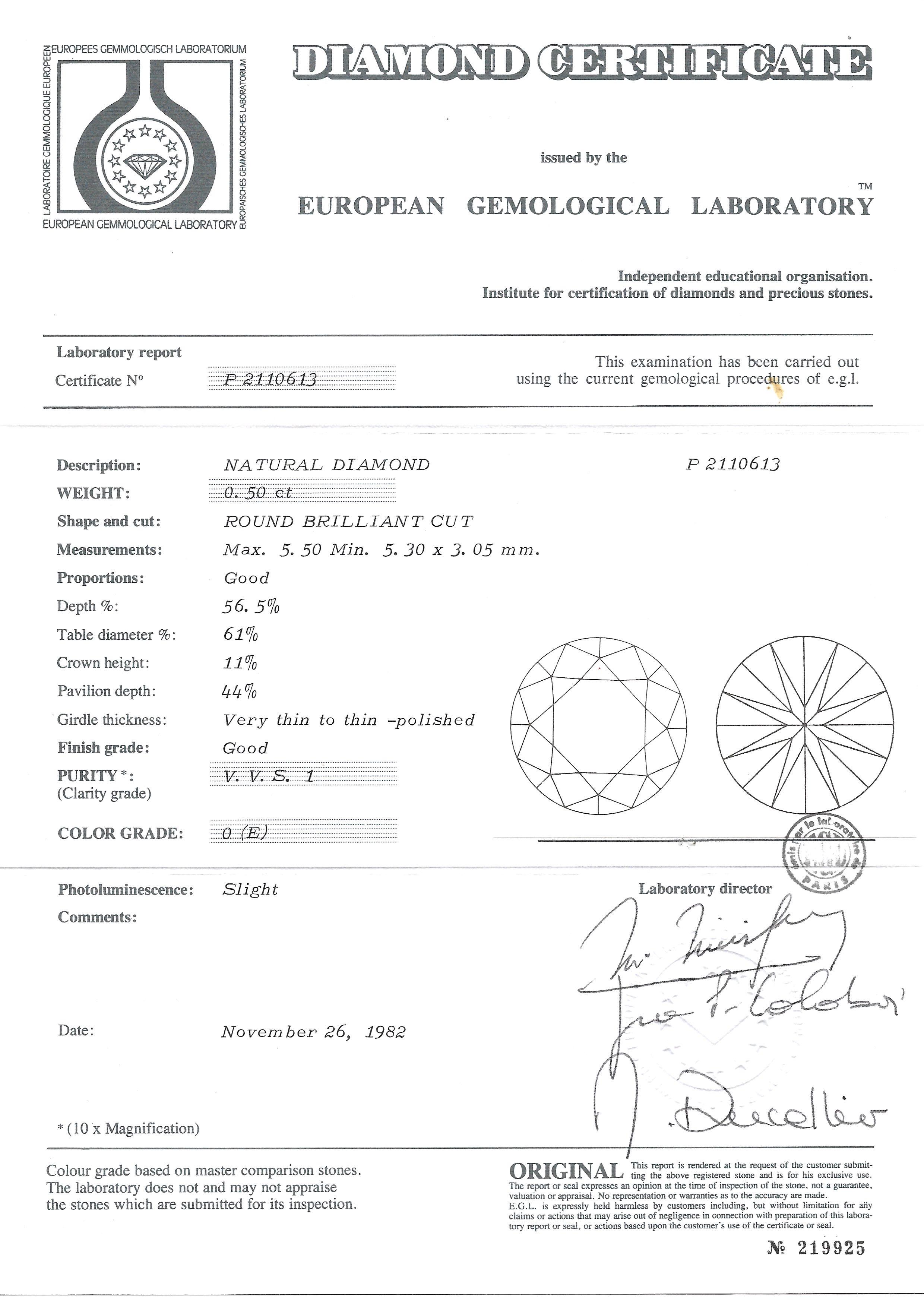 Boucles d'oreilles diamants (1,02 carat E VVS1)-3