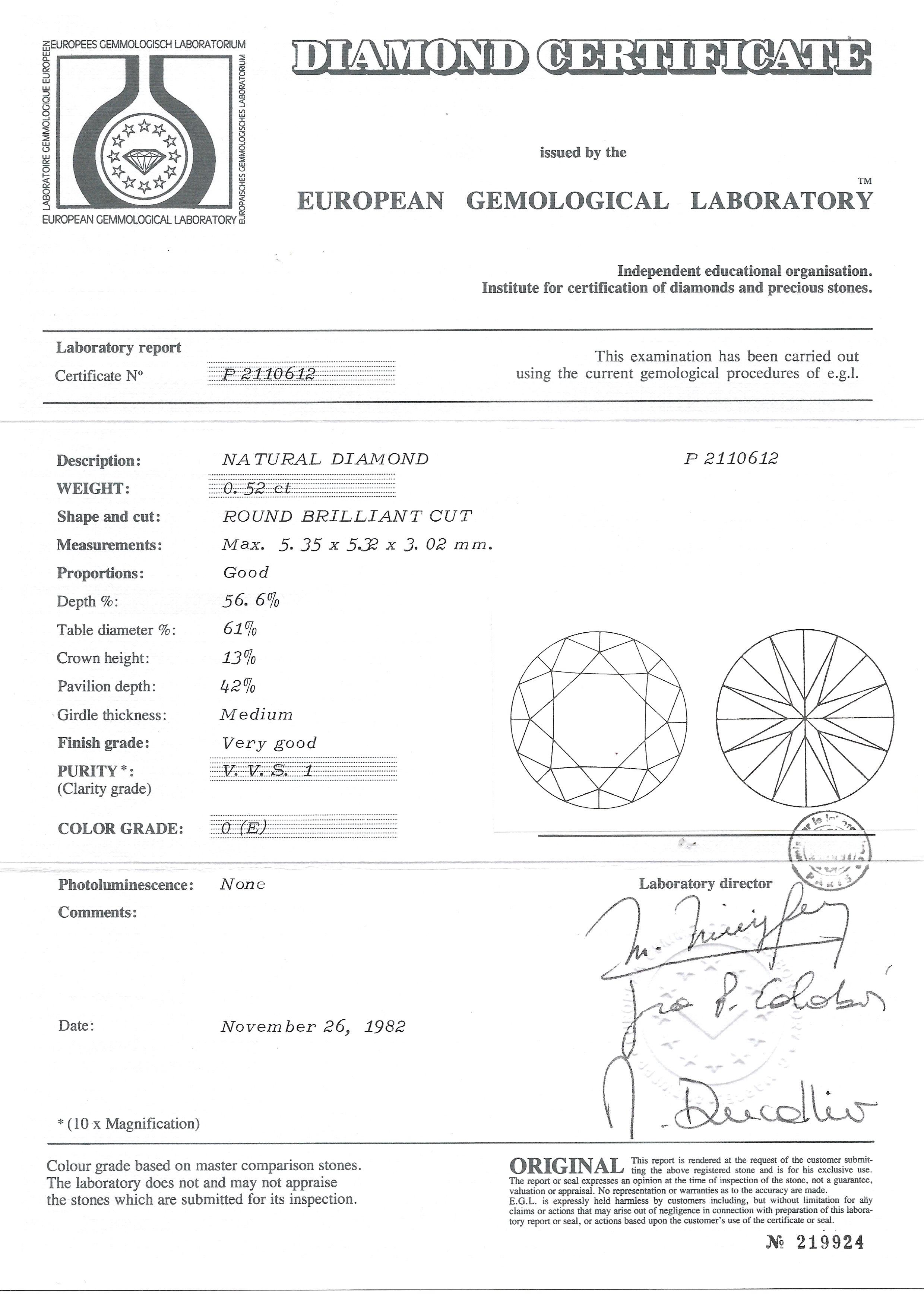 Boucles d'oreilles diamants (1,02 carat E VVS1)-2