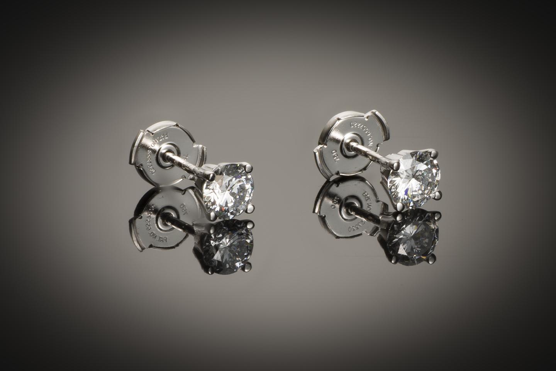 Boucles d'oreilles diamants (1,02 carat E VVS1)-1