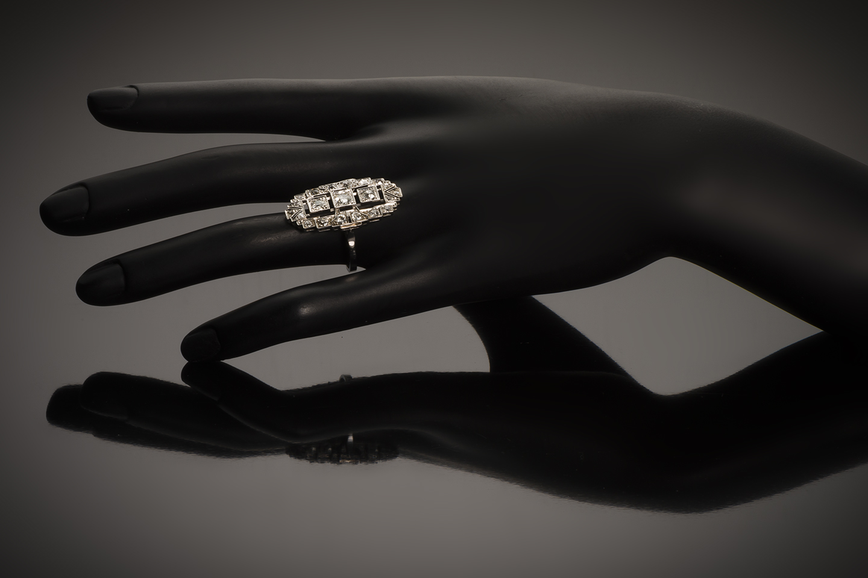 Bague diamants Art Déco (1,2 carat)-2