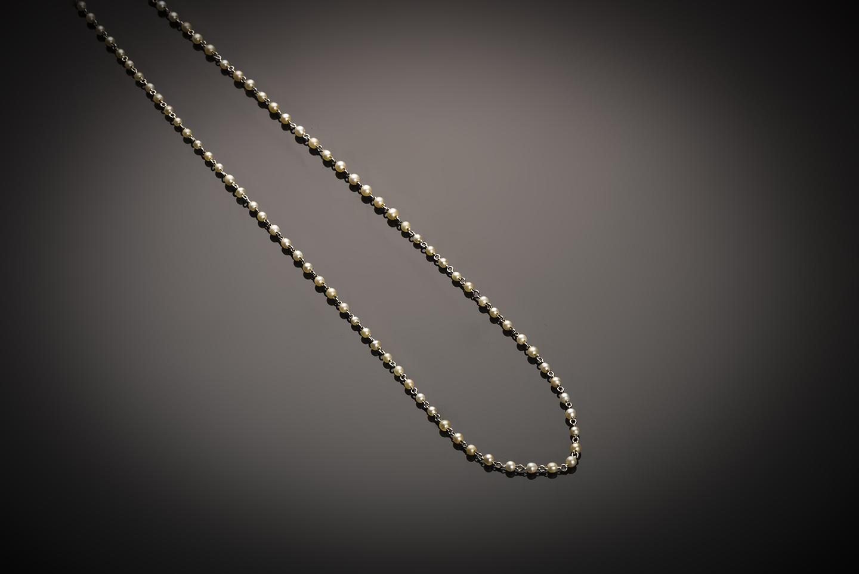Collier perles fines Art Déco-1