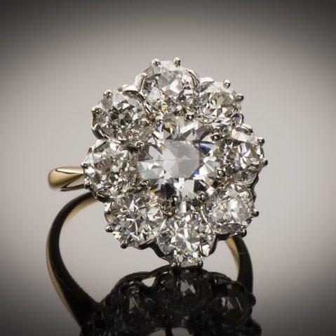 Bague fin XIXe siècle diamants (3,60 carats)