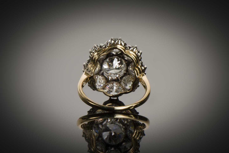 Bague fin XIXe siècle diamants (3,60 carats)-2