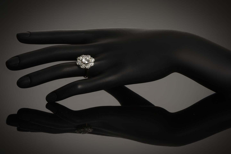 Bague fin XIXe siècle diamants (3,60 carats)-3