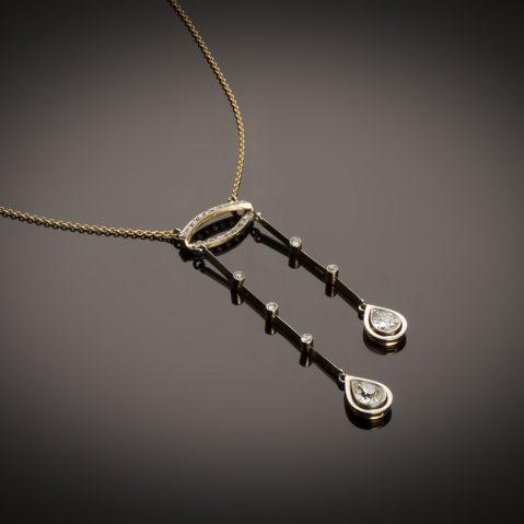 Négligé diamants (1,80 carat) fin XIXe siècle