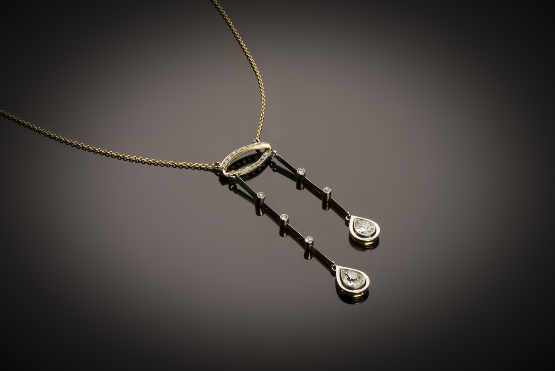 Négligé diamants (1,80 carat) fin XIXe siècle-1