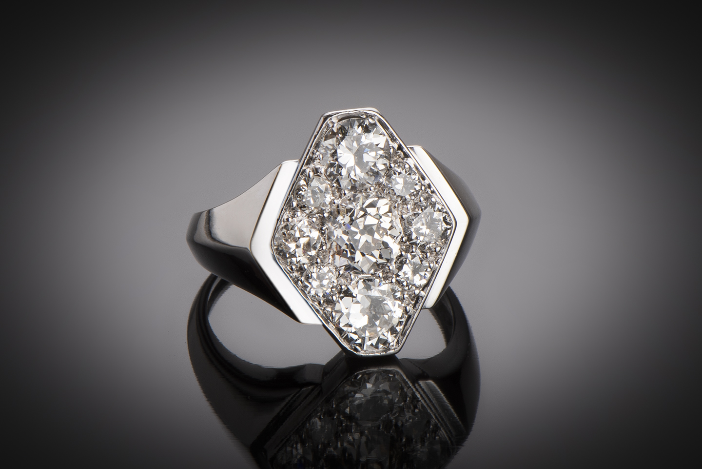 Bague diamants Art Déco (2 carats)-1