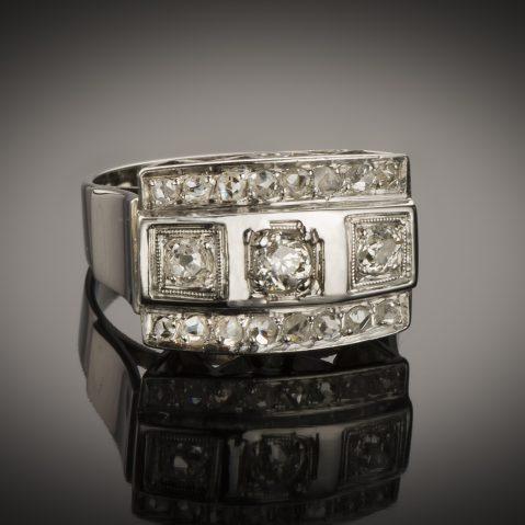 Bague diamants Art Déco (vers 1935)