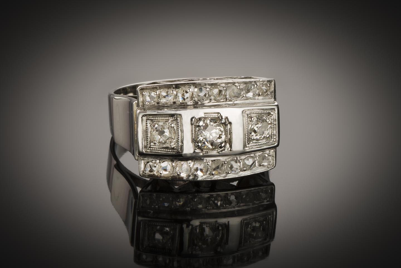 Bague diamants Art Déco (vers 1935)-1