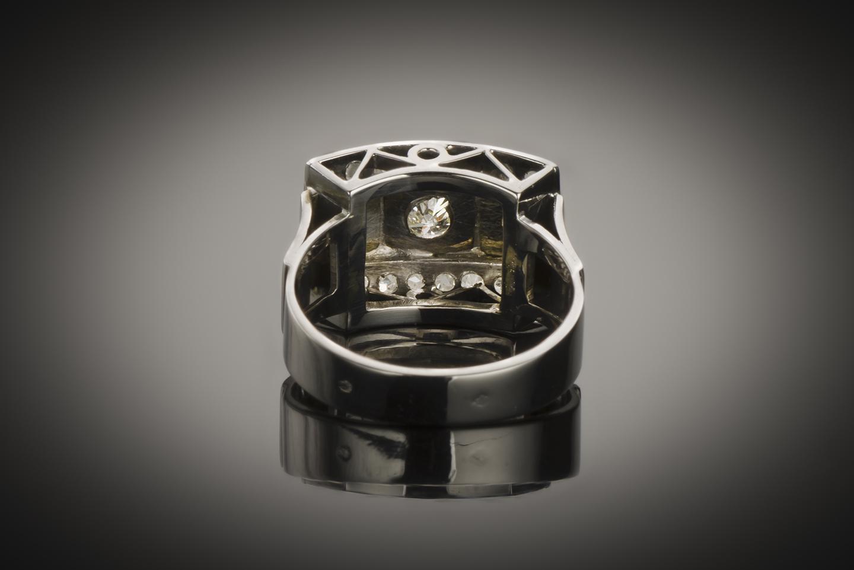 Bague diamants Art Déco (vers 1935)-2