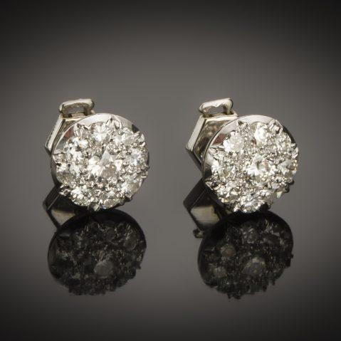 Boucles d'oreilles Art Déco diamants (1,60 carat)