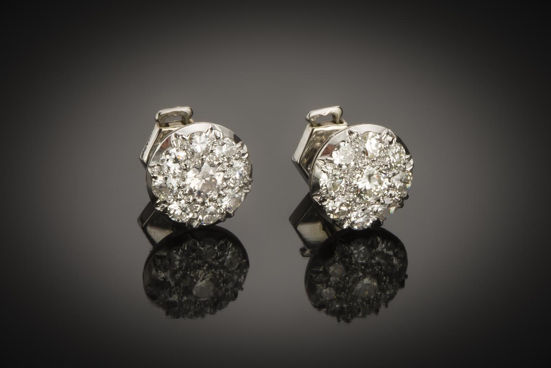 Boucles d'oreilles Art Déco diamants (1,60 carat)-1