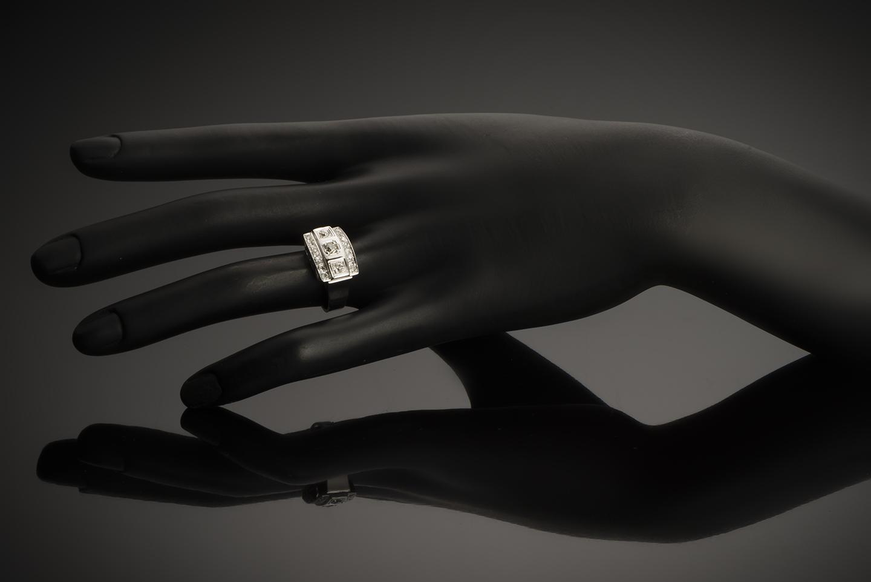 Bague diamants Art Déco (vers 1935)-3