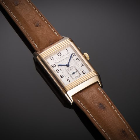 Montre Jaeger LeCoultre Reverso Duoface Night & Day or rose