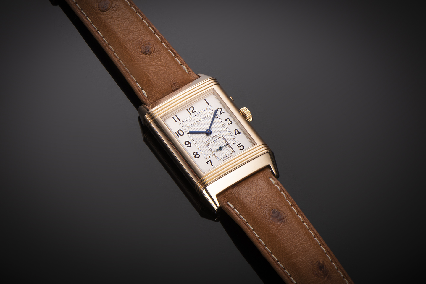 Montre Jaeger LeCoultre Reverso Duoface Night & Day or rose-1