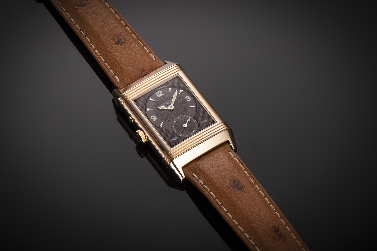 Montre Jaeger LeCoultre Reverso Duoface Night & Day or rose-2