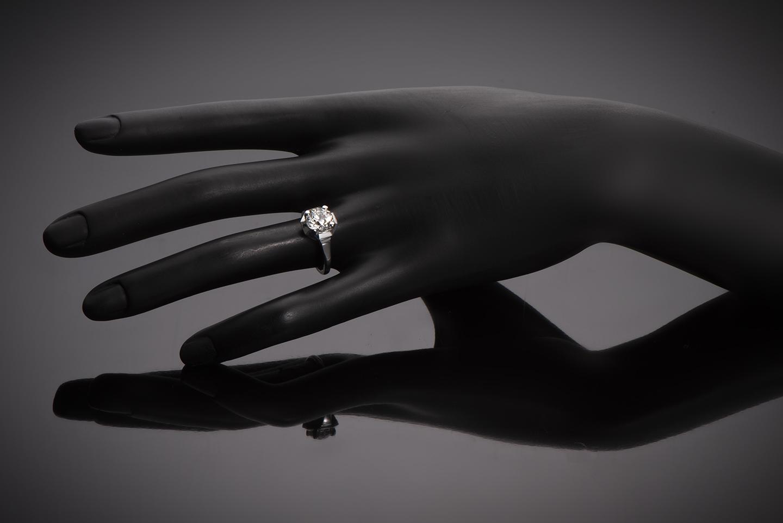 Solitaire diamant 2,06 carats (certificat LFG) Art Déco-2