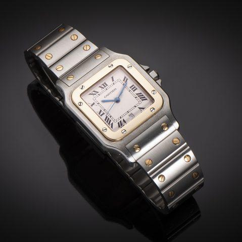 Montre Cartier Santos or & acier