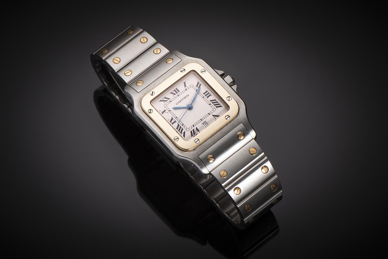 Montre Cartier Santos or & acier-1