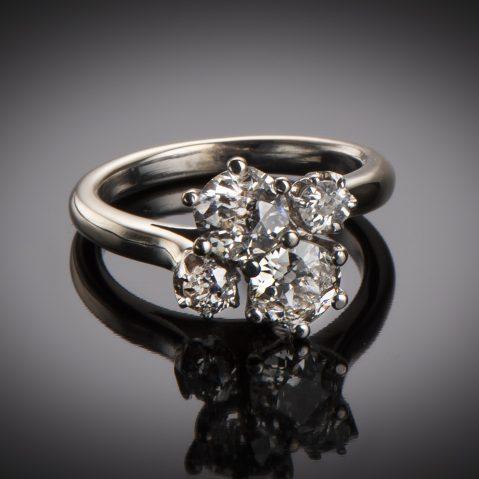 Bague « vous & moi » diamants (1,20 carat) vers 1950