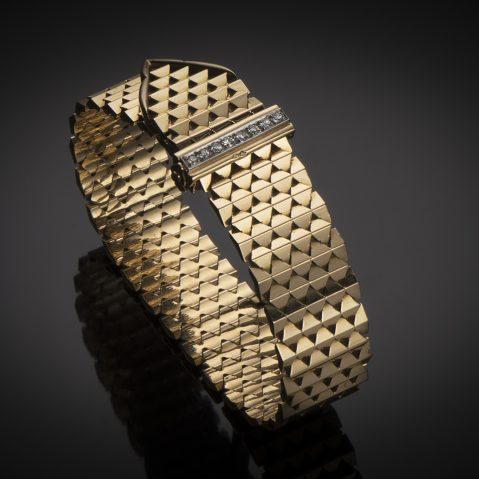 Bracelet « ceinture » diamants vers 1950