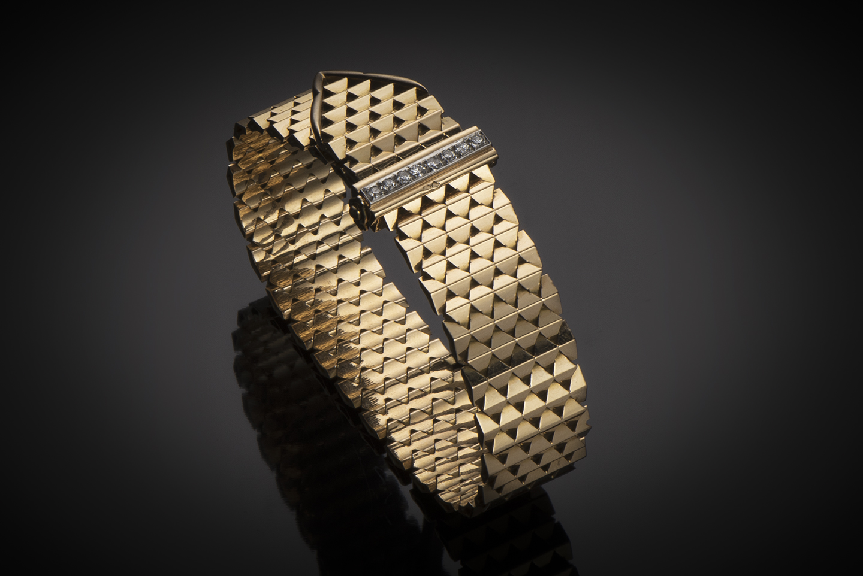 Bracelet « ceinture » diamants vers 1950-1