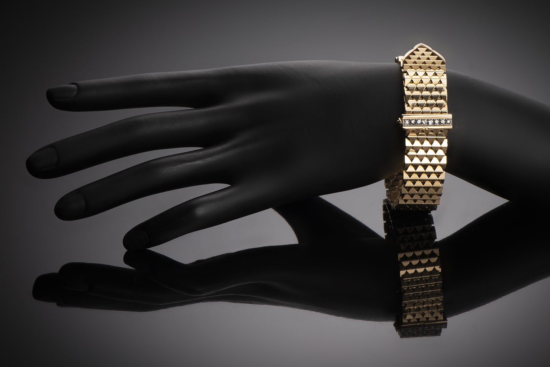 Bracelet « ceinture » diamants vers 1950-2