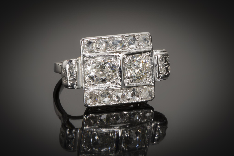 Bague Art Déco diamants (1,80 carat)-1