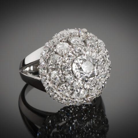 Bague Boucheron diamants vers 1950
