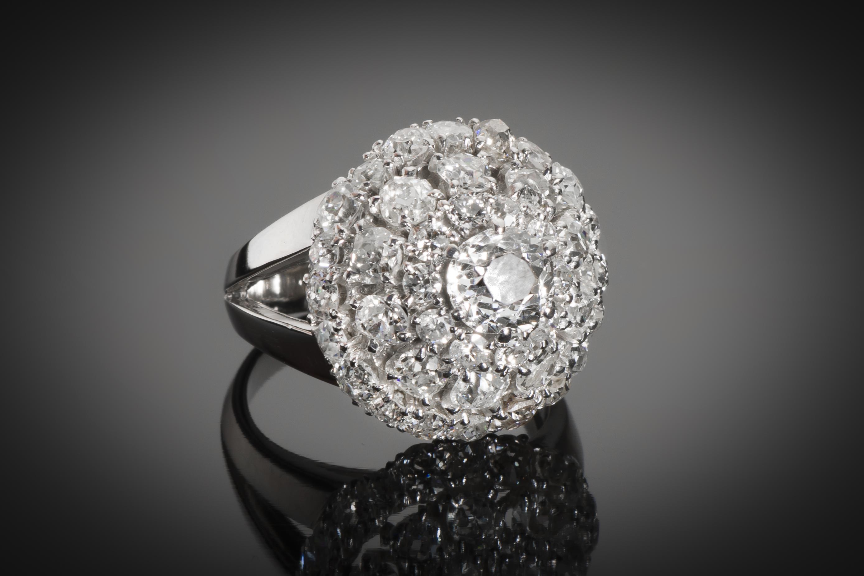 Bague Boucheron diamants vers 1950-1