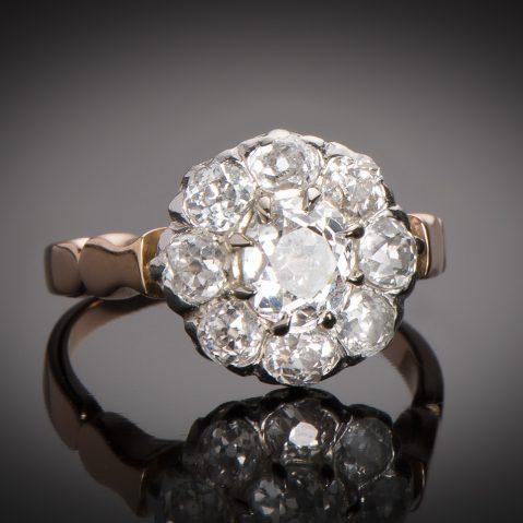 Bague fin XIXe siècle diamants (1,60 carat)