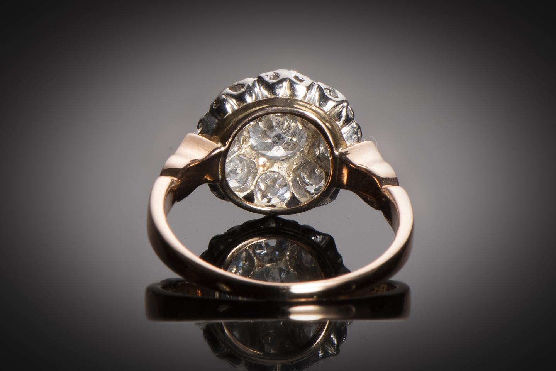 Bague fin XIXe siècle diamants (1,60 carat)-2