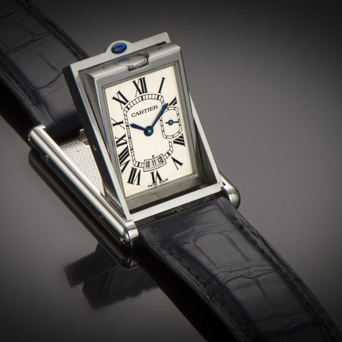 Montre Cartier basculante Grante Taille (full set)