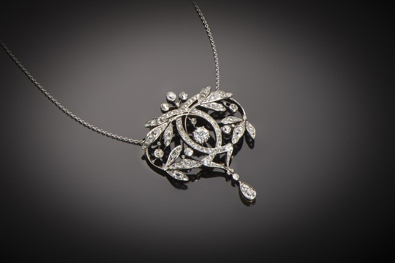 Pendentif diamants Belle Epoque-1