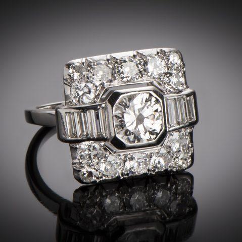 Bague Art Déco diamants (2,20 carats)