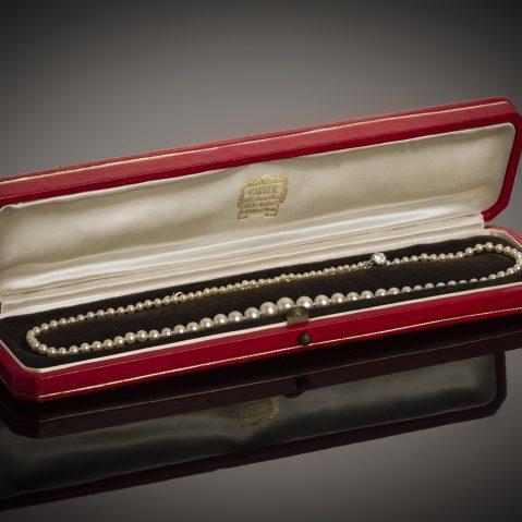 Collier Cartier circa 1929 perles fines (certificat LFG)