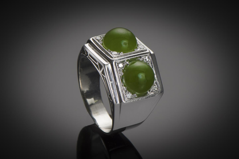 Bague Art Déco jade diamants-1