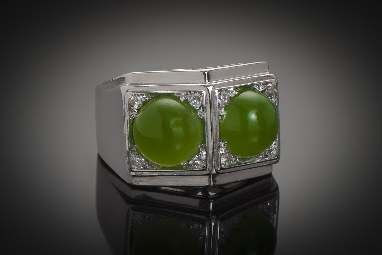 Bague Art Déco jade diamants-2