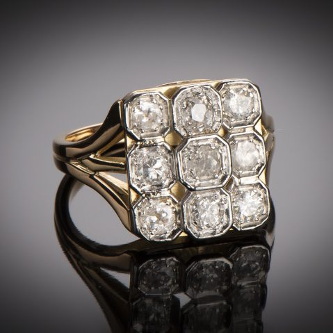 Bague diamants vers 1950
