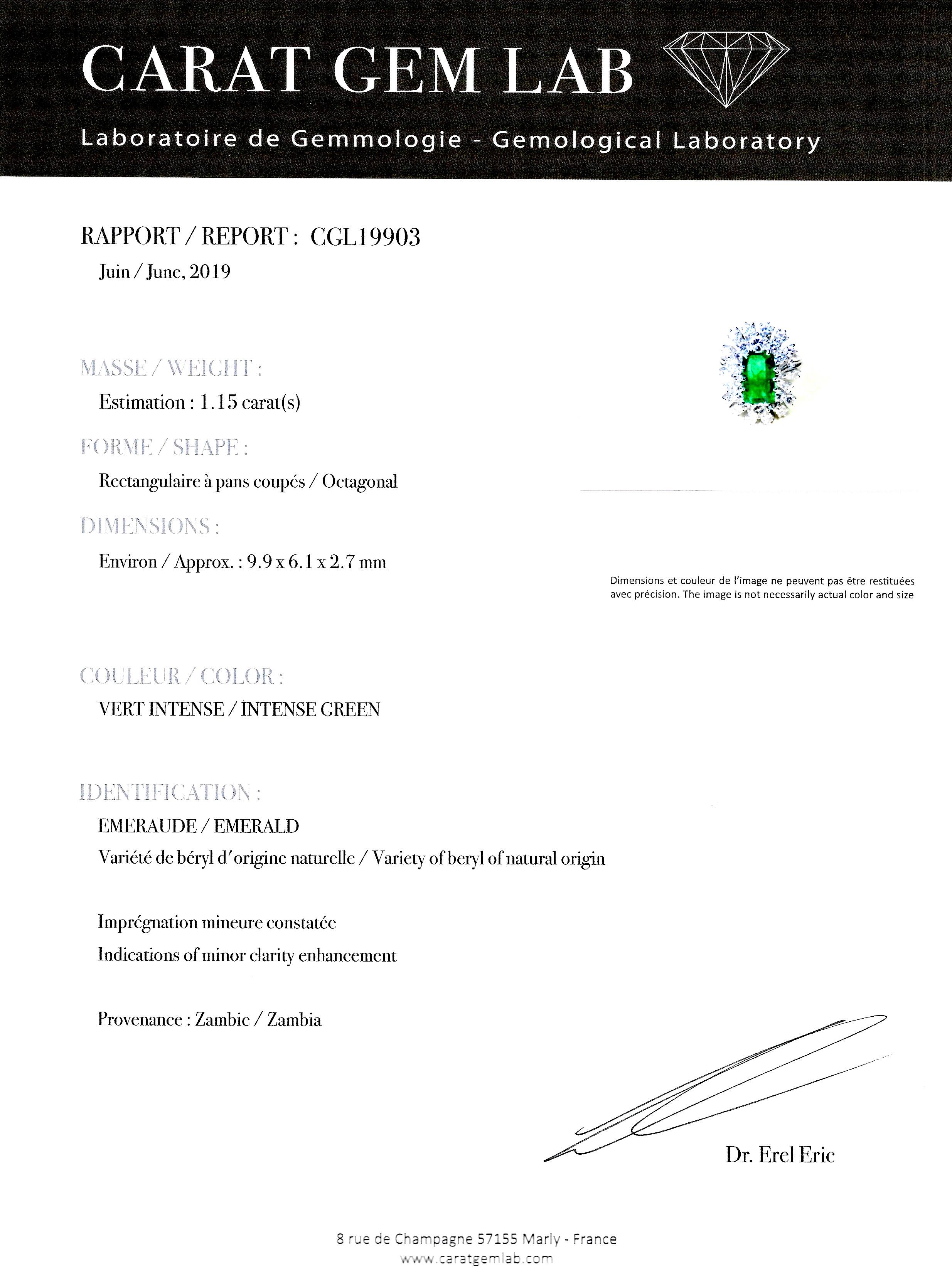 Bague émeraude (certificat CGL) diamants-3