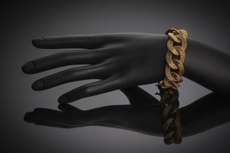 Bracelet Van Cleef & Arpels vintage vers 1960 (poinçon de maître Georges Lenfant)-2