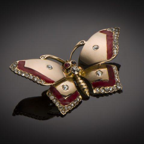 Pendentif papillon vers 1940 – 1950