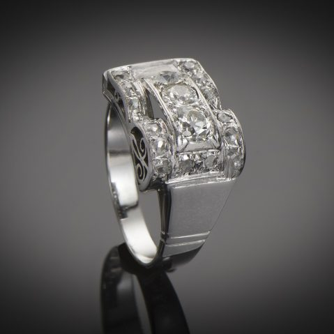 Bague Art Déco diamants (1,20 carat)